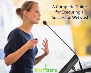 cover image for Lime Crane white paper on webcasting