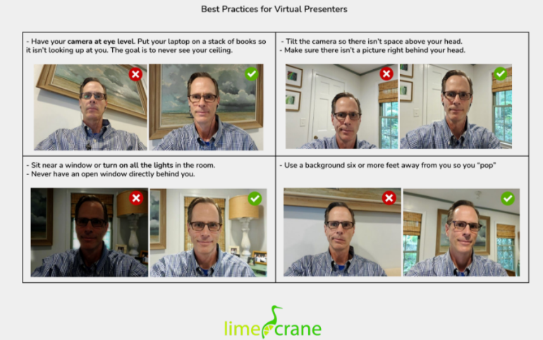 Best Practices for Virtual Presenters - Lime Crane